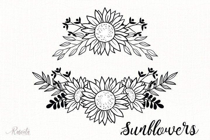 Sunflower Monogram Frames / 2