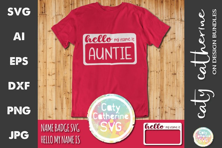 Hello My Name Is Badge Pregnancy Announcement SVG Cut File