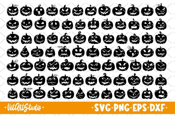 84 Halloween pumpkins bundle svg, Pumpkin face
