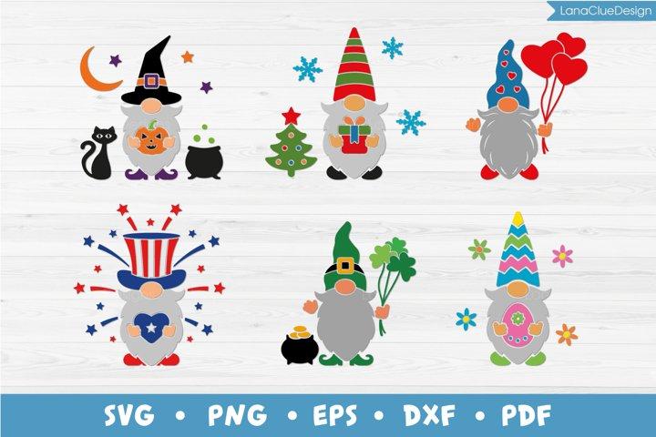 Holiday Gnome SVG Bundle - 6 holidays