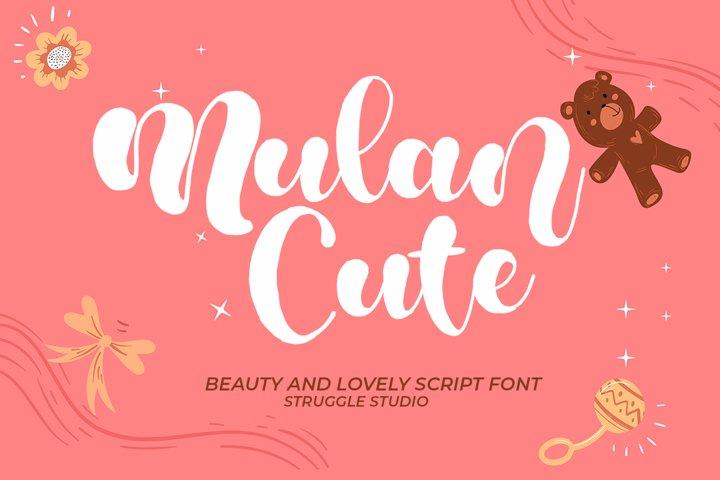Mulan Cute Script