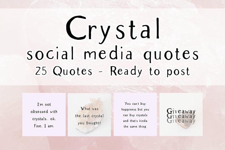 25 x Purple Crystal Social Media Quotes