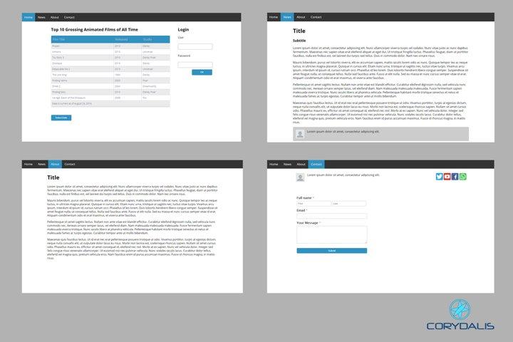 Easy UI HTML Template