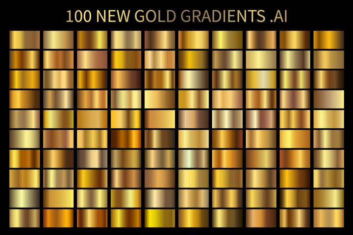 100 New Gold Gradients .AI