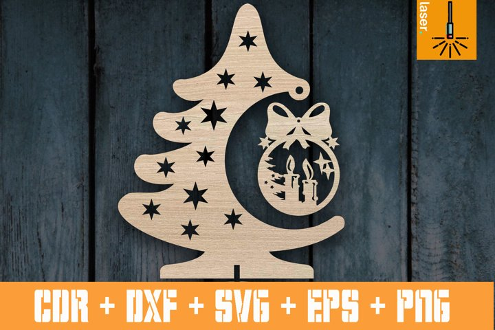 Christmas tree template pattern for Laser | Cnc vector