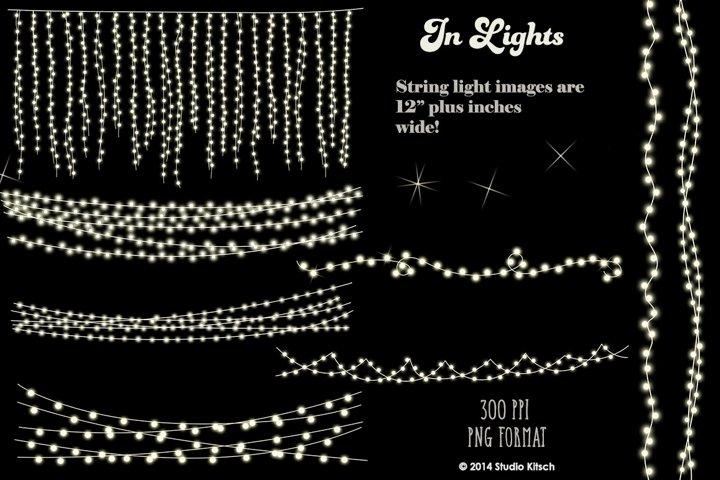 String Lights Clip-Art + Bonus