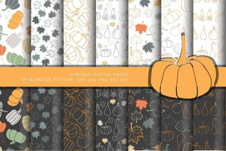 Autumn Leaves, Pumpkin. Halloween, Thanksgiving Party Design