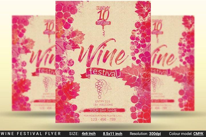 Wine Festival Flyer