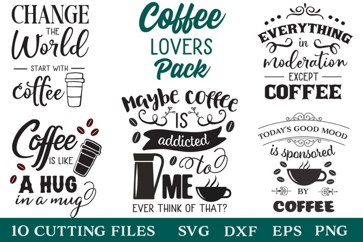 Coffee Lovers SVG Pack
