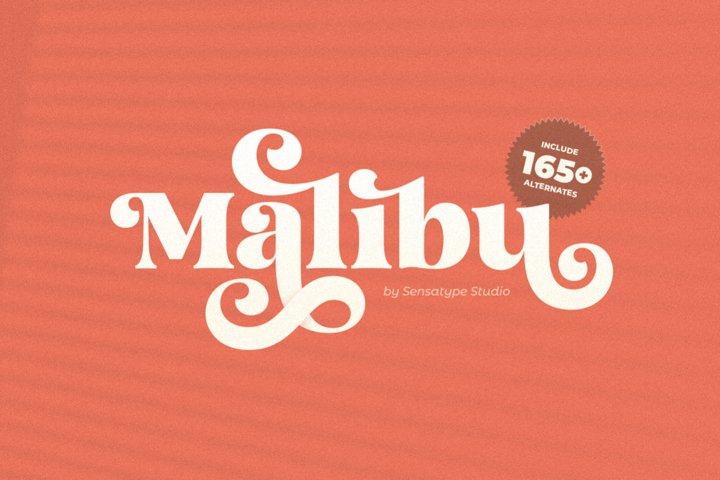 Malibu Fancy Vintage Font