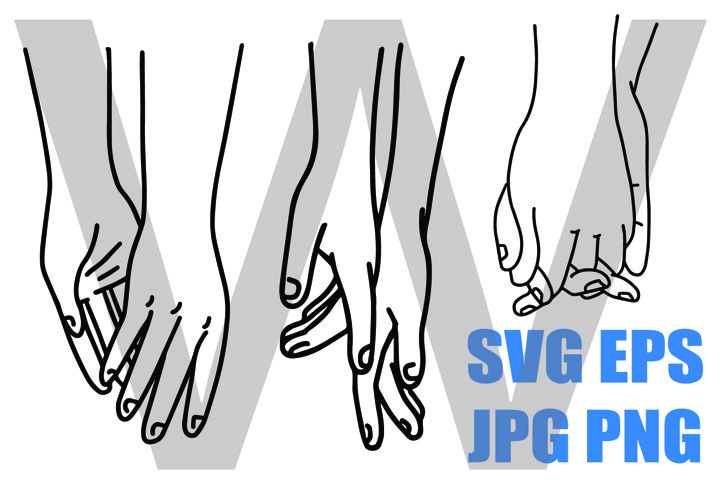 Hands of Lovers 3 Designs - PNG SVG EPS PNG