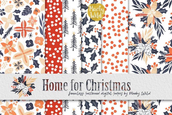 Christmas seamless Digital Holiday Pattern