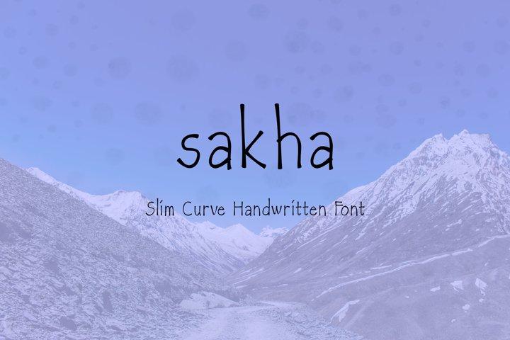 SAKHA - slim curve handwritten font