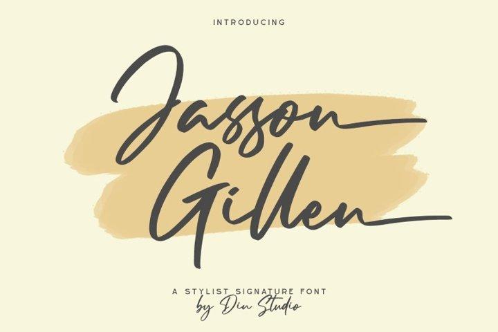 Jasson Gillen- Stylish Signature Font