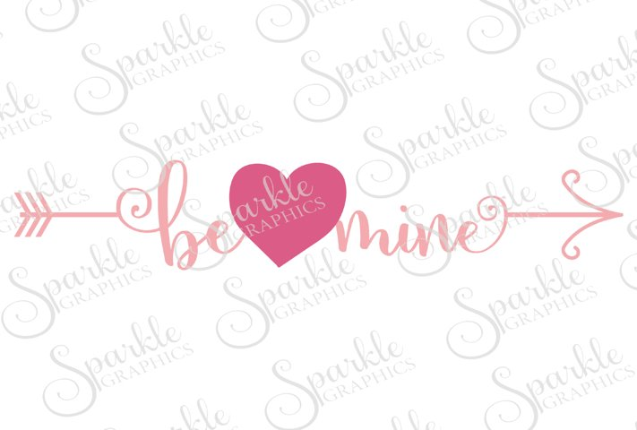 Be Mine Arrow Cut File | SVG, EPS, DXF, PNG