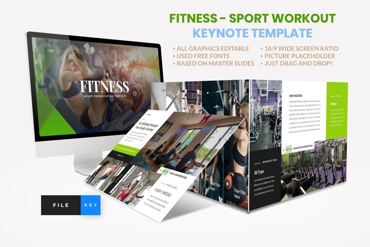 Sport - Fitness Business Workout Keynote Template