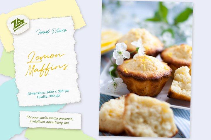 Food photo Lemon muffins - closeup details
