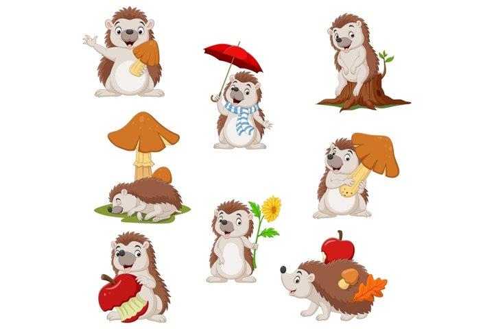 Cartoon Funny Little Hedgehog Bundles