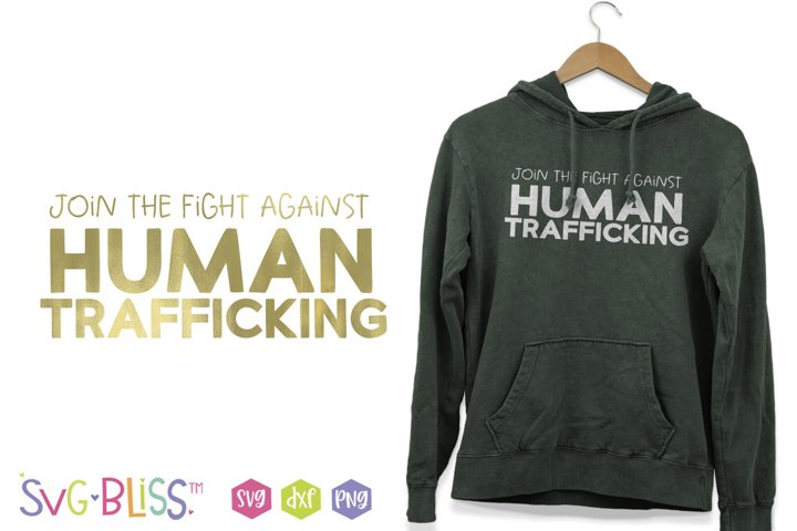 Join the Fight Against Human Trafficking SVG