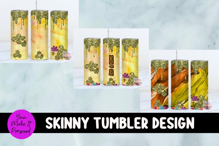 Sublimation Tumbler Bundle, Honey Bee with Drip