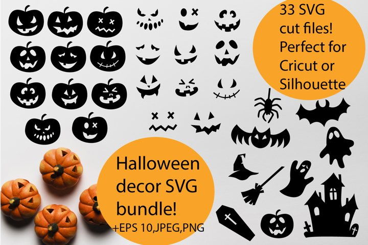 Halloween party decor SVG cut files bundle