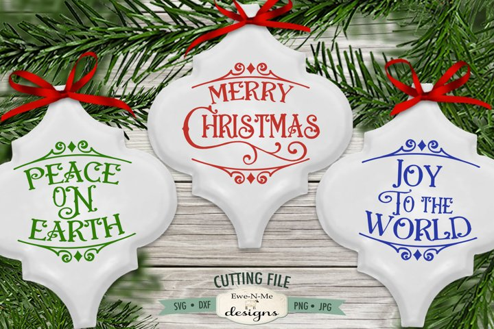 Peace On Earth SVG | Merry Christmas SVG | Joy Ornament SVG