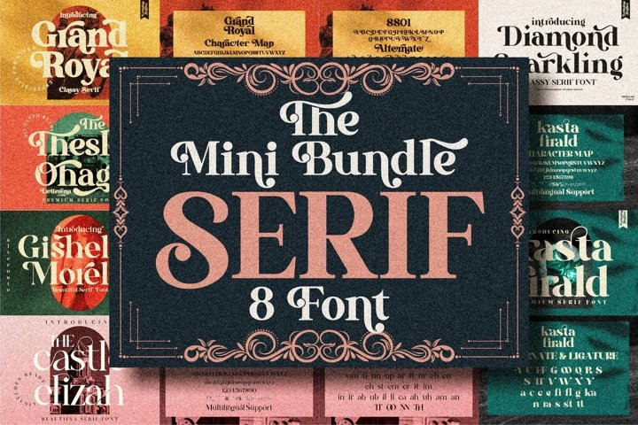 Serif Font Bundle - 8 Perfect Serif Font