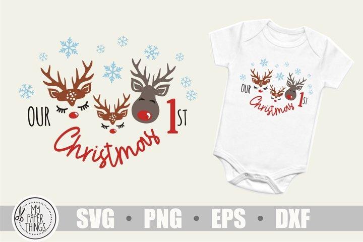 Our 1st Christmas svg, Baby Girl Christmas svg