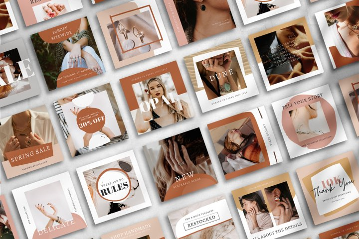 25 Instagram Templates made in Canva   Jewelry Store