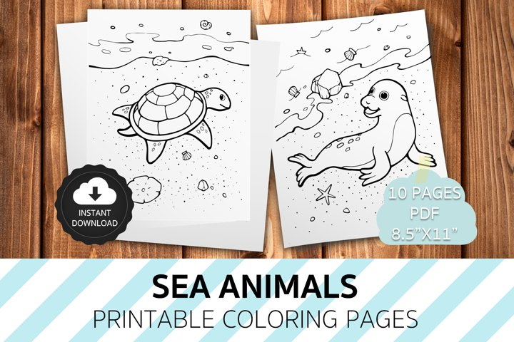 Happy Sea Beach Coloring Pages