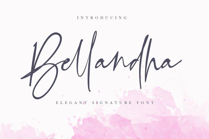 Bellandha Signature - Elegant Signature Font