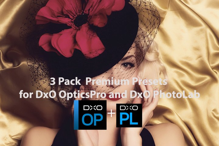 3 Pack Premium Presets for DxO OpticsPro DxO PhotoLab Bundle