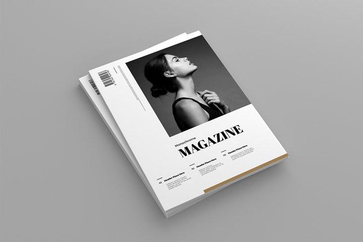 Monochrome | Magazine template