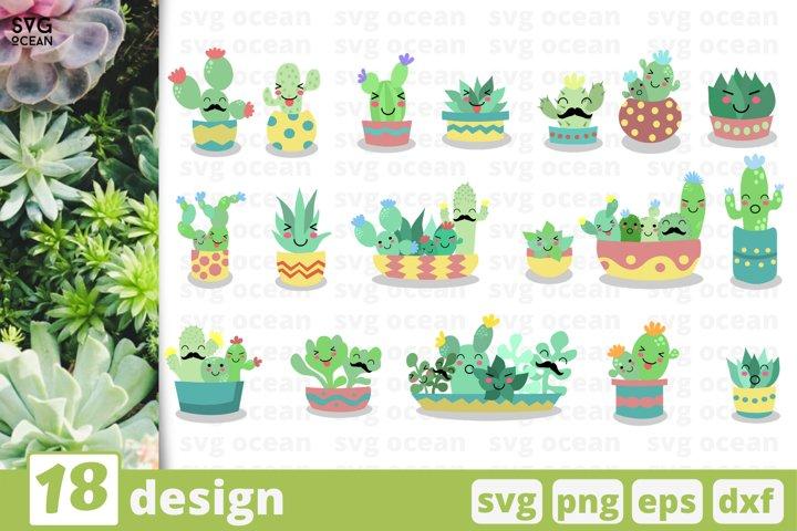 18 CACTUS SVG BUNDLE   Succulents svg   Cactus cricut