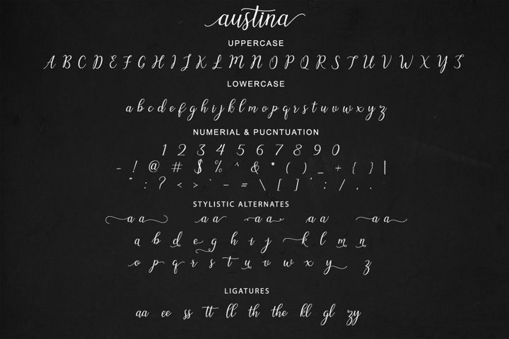 Austina - Free Font of The Week Design3