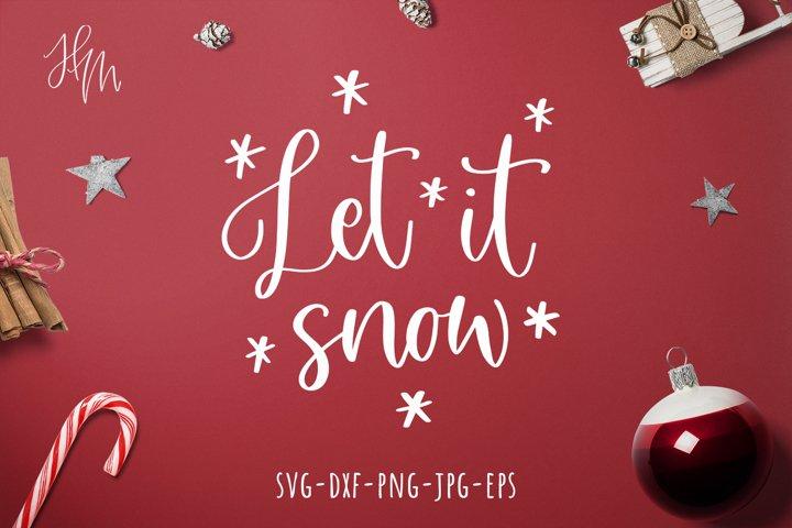 Let it snow cut file SVG DXF EPS PNG JPG