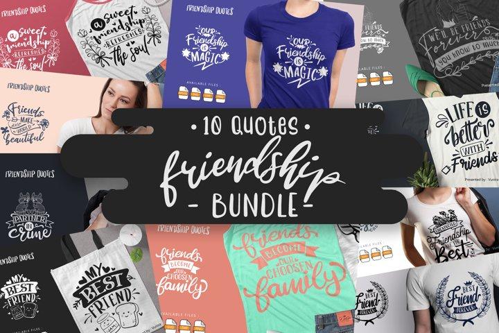 10 Friendship Bundle   Lettering Quotes