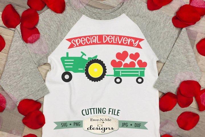 Valentine Tractor SVG   Special Delivery Valentine SVG
