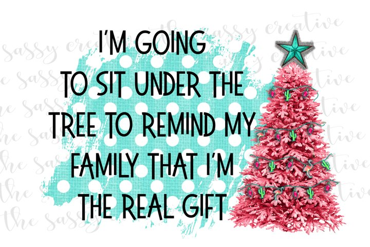 Funny Christmas Tree Quote PNG Design
