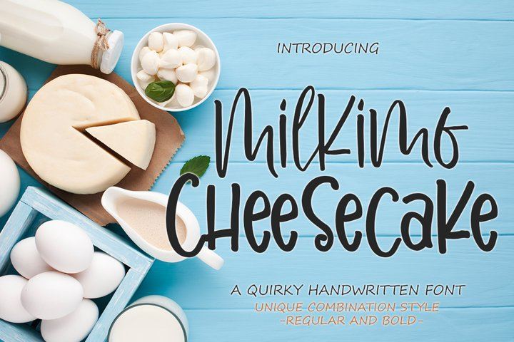 Milkimo Cheesecake Quirky Handwritten Font