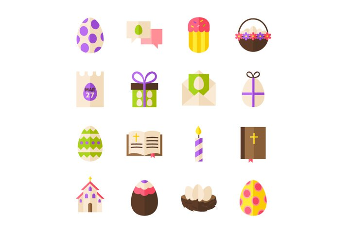 Happy Easter Vector Isolated Objects example 1