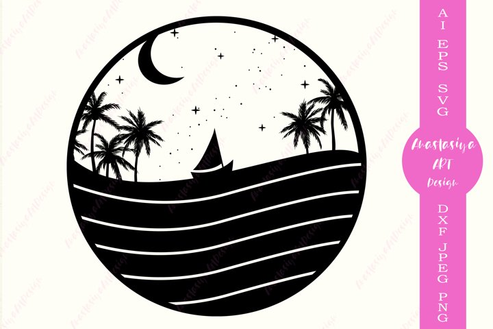 Beach svg, Vacation shirt svg, Travel clipart silhouette