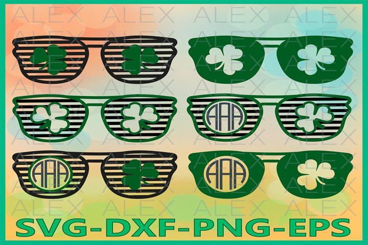 Clover Glasses SVG, St Patricks Day SVG, Clover Svg