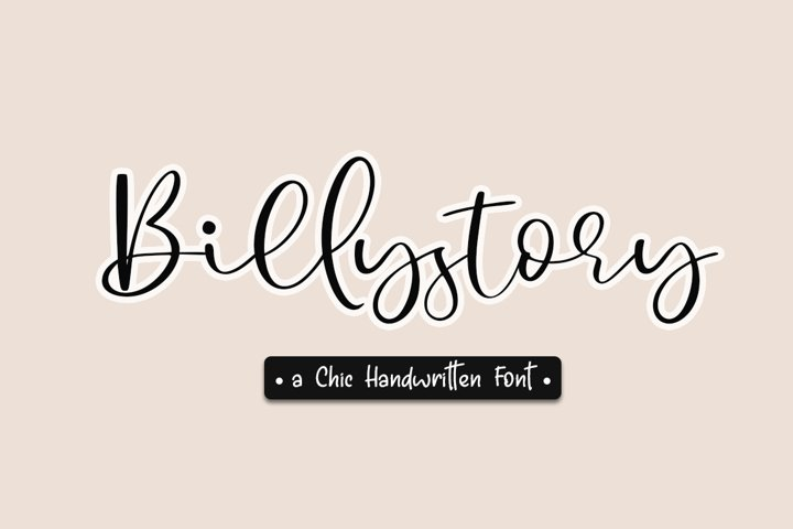 Billystory a Chic Handwritten Script Font