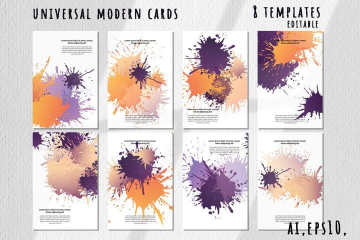 Universal modern card templates