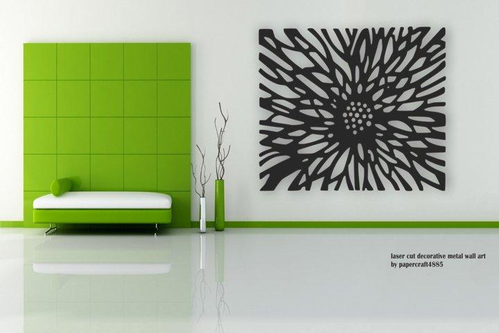 Flower burst Wall decor. Laser cut files SVG DXF CDR