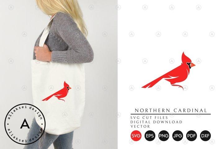 Northern Cardinal   Cute Bird SVG