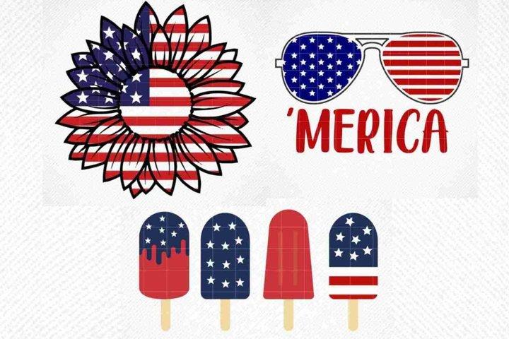 Fourth July Bundle SVG, 4th of July Svg, American Flag SVG