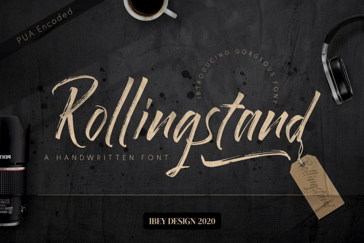 Rollingstand - Modern Brush Font