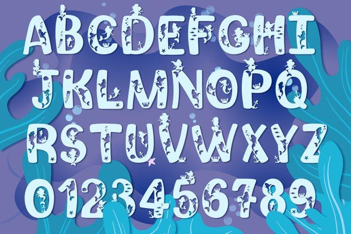 Mermaid Story & Mermaid Scales Font Duo | Mermaid Font - Free Font of The Week Design1